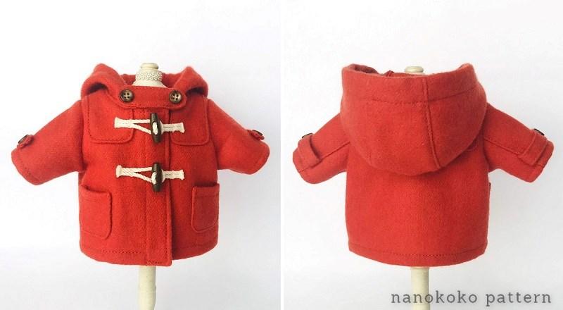 メルちゃんやソランちゃんのコートの型紙と作り方