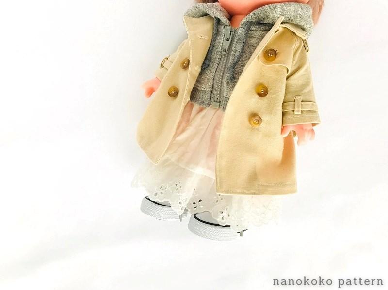 メルちゃんの衿付きコート