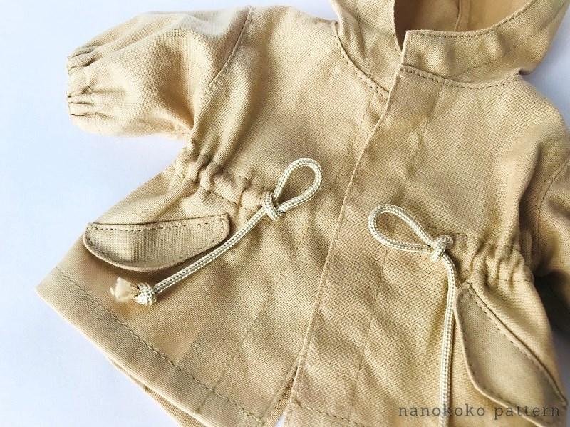 メルちゃんやソランちゃんサイズのコートの型紙