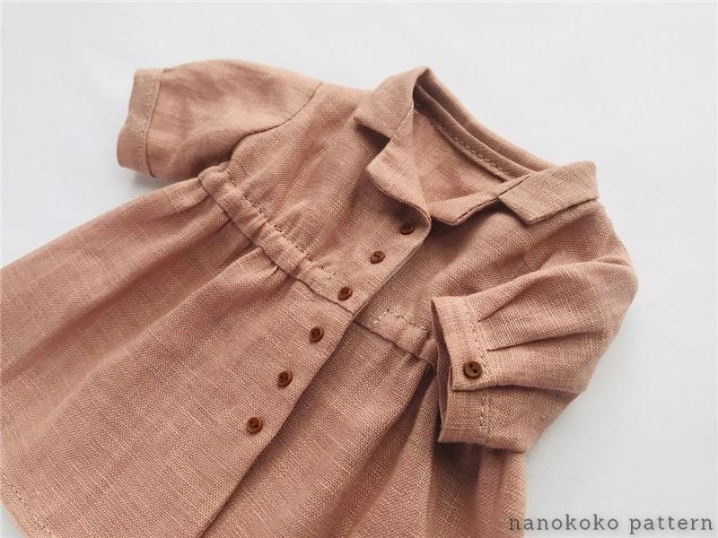 メルちゃんのシャツワンピース