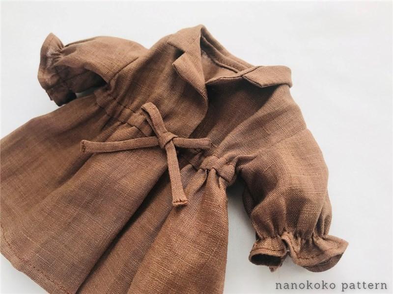 メルちゃんのギャザー袖ワンピース