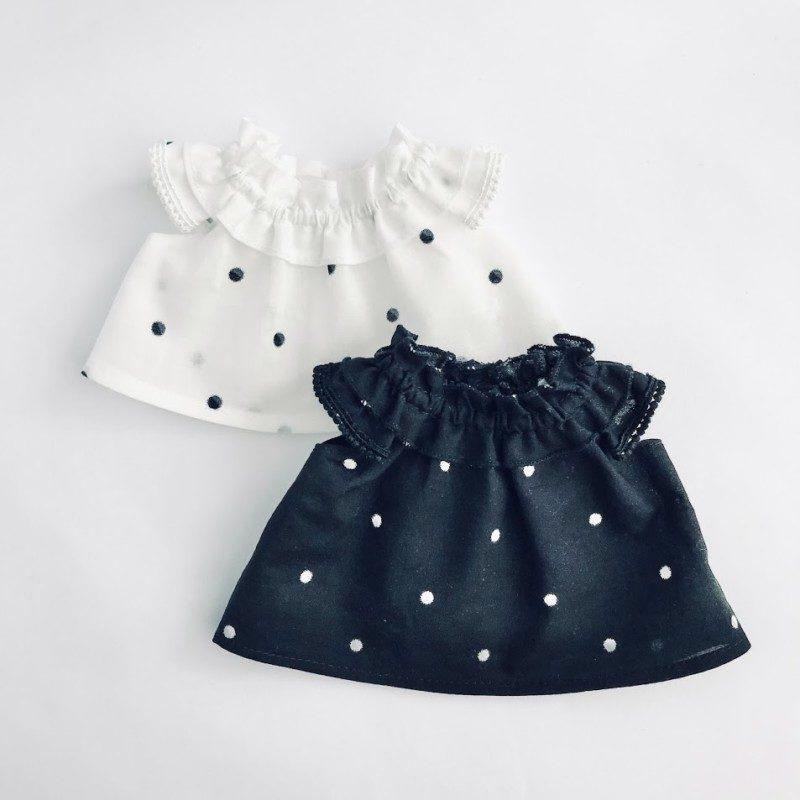メルちゃんのフリル衿ワンピースの型紙
