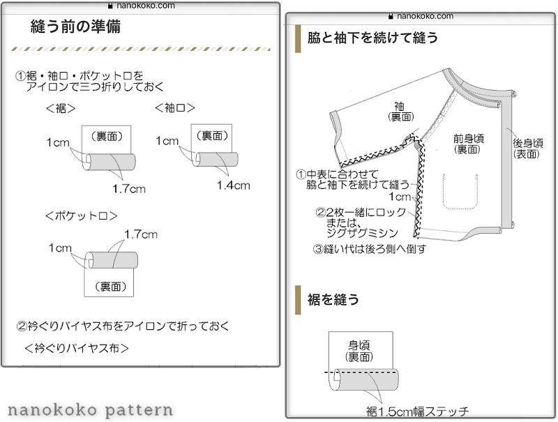 入園準備のスモックの作り方と無料型紙