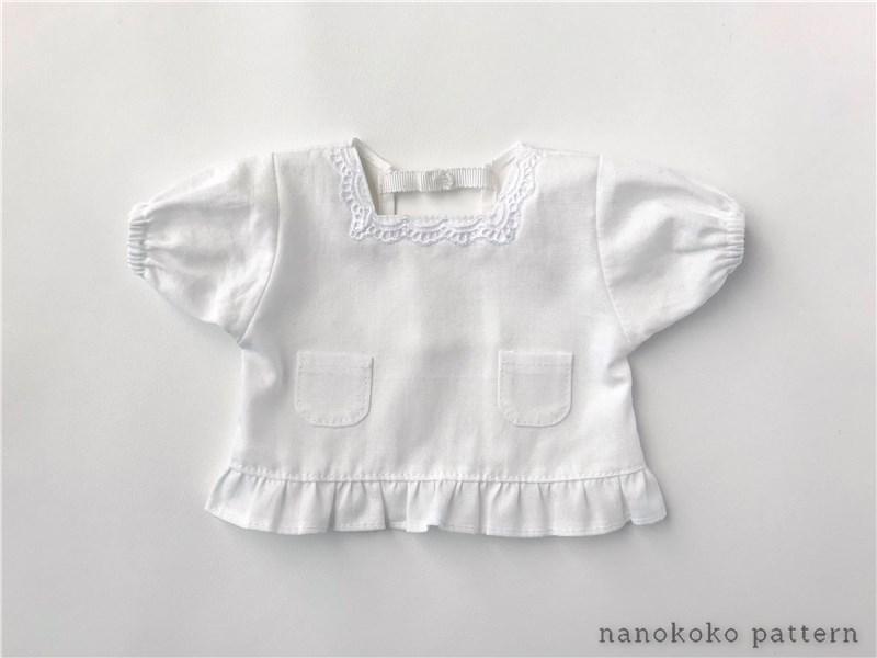 メルちゃんサイズの着物用割烹着の型紙と作り方