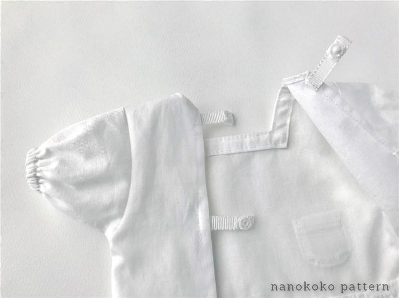 メルちゃんサイズのドール用割烹着の型紙と作り方