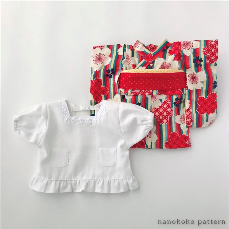 ソランちゃんサイズのドール用割烹着の型紙と作り方
