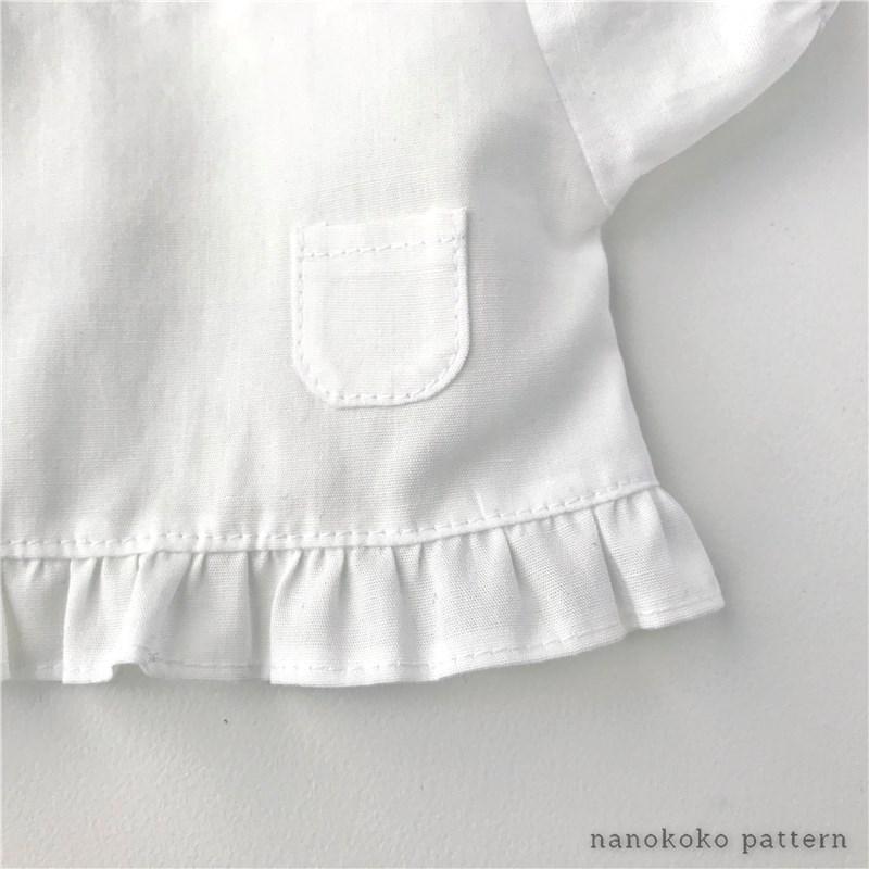 メルちゃんサイズの割烹着の型紙と作り方