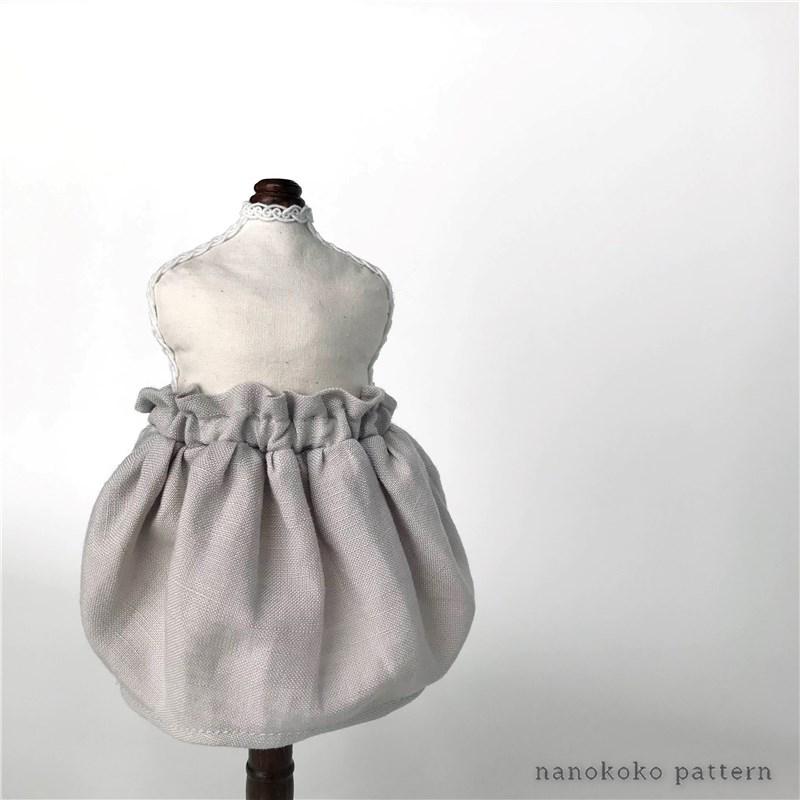 メルちゃんやソランちゃんサイズのコクーンスカートの型紙販売