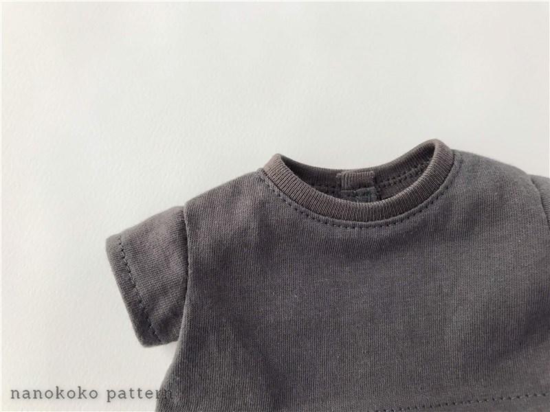 メルちゃんやソランちゃんサイズのドール服「ゆるTシャツ」の型紙と作り方