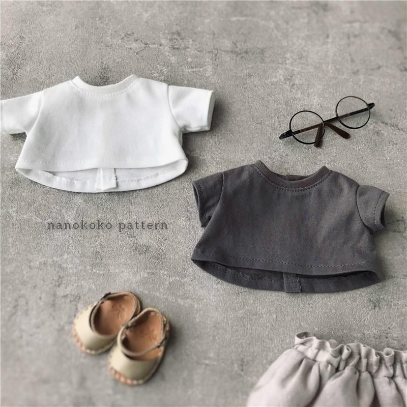 メルちゃんやソランちゃんサイズのドール服「ゆるTシャツ」の型紙販売