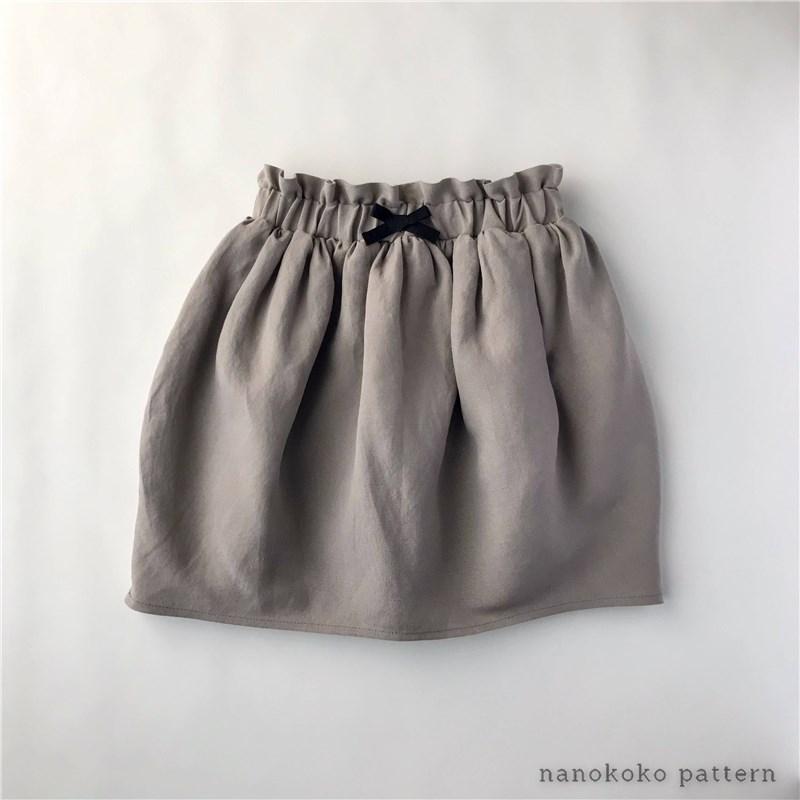 子供服「コクーンスカート」の型紙と作り方