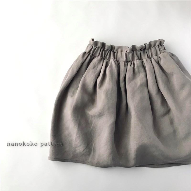 ハンドメイド子供服「コクーンスカート」の型紙と作り方