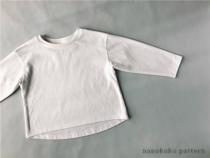 子ども服「ゆるTシャツ」の型紙つ作り方