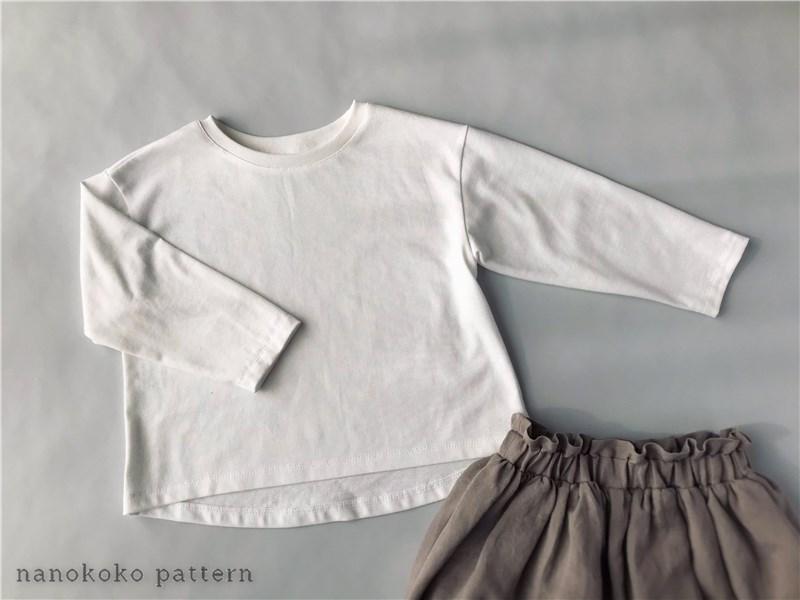 子供服「ゆるTシャツ」の型紙と作り方