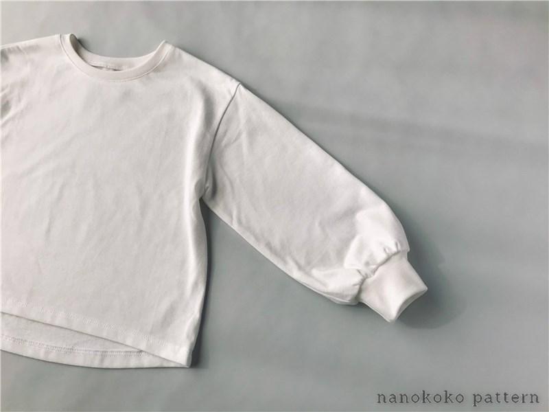 子供服「ゆるTシャツ☆切替袖」の型紙と作り方