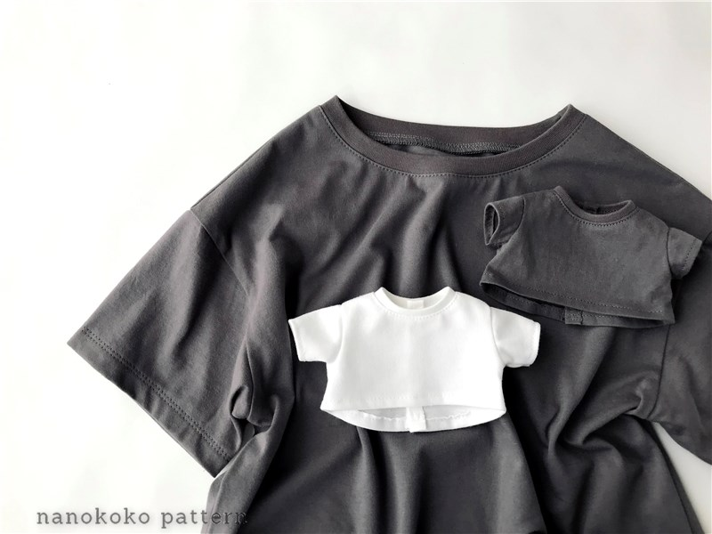 ドールと子どものお揃い服「ゆるTシャツ」の型紙と作り方