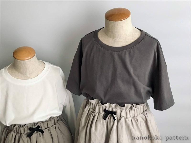 ハンドメイド子供服「ゆるTシャツ」の型紙と作り方