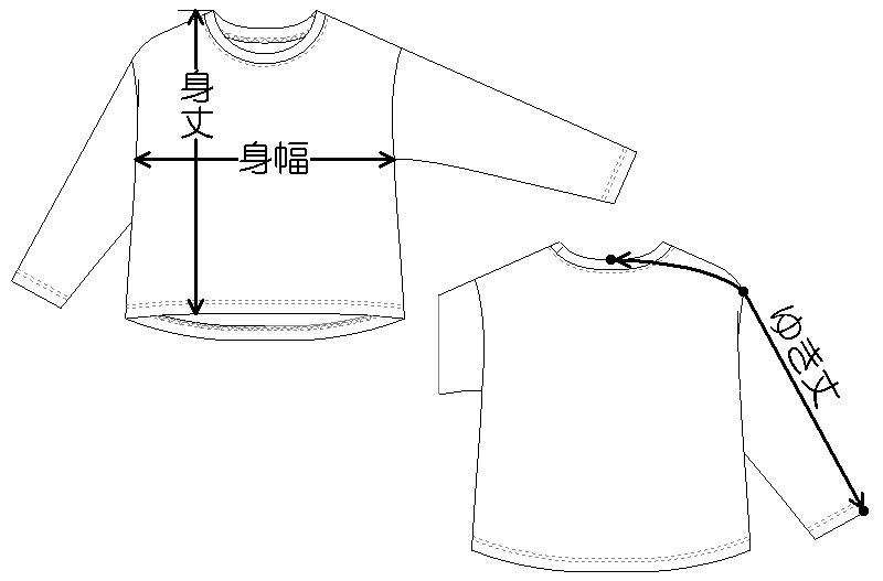 子供服「Tシャツ」のサイズの測り方