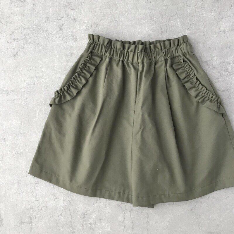 フリルポケットショートパンツ(子供服)の型紙販売